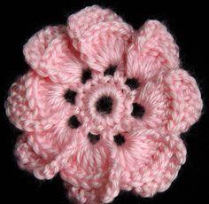 Crochet : Flor de 8 petalos (+lista de reproducción)