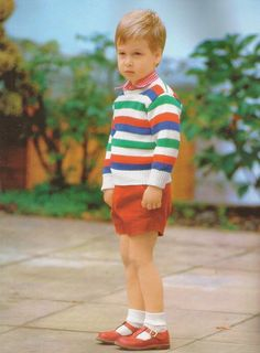 Three year old Prince William , 1st child  of Prince Charles & Princess Diana of Wales