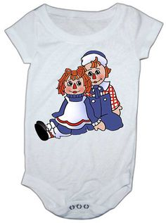 Raggedy Ann And Andy baby onesie by LuluBellababyTrends on Etsy, $18.99