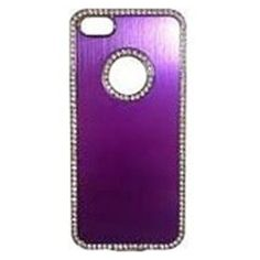 Couture 890968102522 Metallic Bling Case for Apple iPhone 5 - Purple