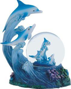 Dolphin Family Snow Globe
