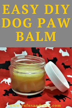DIY Dog Paw Balm - Easy homemade dog (or cat! Help protect your dog's feet from snow, ice, summer; heat and more! Easy to make with coconut oil, olive oil, beeswax and shea butter. Diy Dog Treats, Homemade Dog Treats, Coconut Oil For Dogs, Dog Care Tips, Pet Tips, Pet Care, Cat Paws, Dog Training Tips, Snack