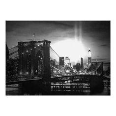 Black & White New York City Skyline Invitation