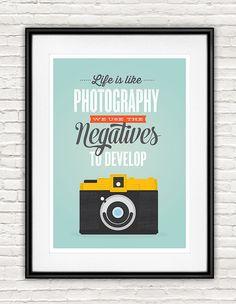 Vintage Kamera Poster, retro Poster, Typografie-Zitat, positive Art, inspirierende Angebot drucken, Motivationstrainer Wandkunst, Fotografie poster