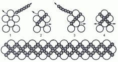 Beaded Bracelet - Hugs and Kisses Pattern