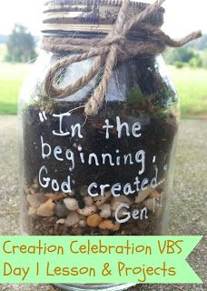 Creation Celebration VBS: Day 1 Lesson and Projects