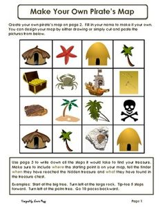 *Make Your Own Pirate Map*Create your own pirate map on page 2.  Fill in your name to make it your own.  You can design your map by either draw...