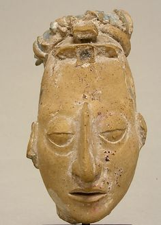 Head from a Figure  Date:     7th–8th century Geography:     Mexico, Mesoamerica Culture:     Maya Medium:     Ceramic MET
