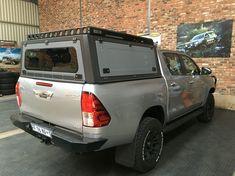 Hilux Rear Bumper & Aluminium Canopy Toyota Hilux, Toyota Tacoma Lifted, Truck Canopy, Ute Canopy, Adventure 4x4, Adventure Campers, Pickup Camper, Pickup Trucks, Mini Trucks