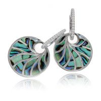 Beautiful earrings with a contrast of blue and white.  Marshall Jewelry