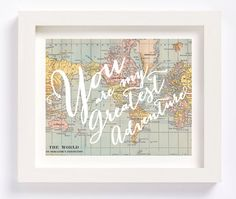 You Are My Greatest Adventure Vintage World Map Kid's Room Playroom Travel Nursery Wall Art Print by CheekyAlbi, $12.00