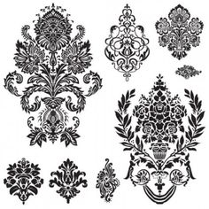 black and white patterns 01 vector - All-Free-Download.com