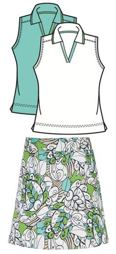 Check out SPECIAL Sport Haley Ladies & Plus Size Golf Outfits (Shirt & Skort) - Melrose (Oasis & Sweet Pea), hurry now while supplies last! #Sports #Outfit #Ladies #Fashion #Apparel  #Golf