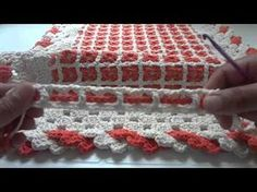 TAPETE DE CROCHÊ COM PONTO GRADE (CROCHÊ PARA CANHOTOS) - YouTube