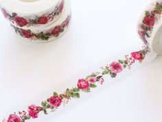 Red Rose Garden Washi Tape 15mm/ Red Floral Washi Tape/ Spring Summer Washi Tape/ Masking Tape Perfect to use in any handmade projects and decorating journals, planners, scrapbooks. MEASUREMENT: 15mm x 10M QUANTITY: 1 roll All orders will be processed and shipped with 1-2 business days. SHIPPING ♦♦♦♦♦♦♦♦♦♦♦ - Domestic STANDARD SHIPPING is with USPS first class mail or Parcel Select with delivery confirmation. Priority Mail upgrade is available by selecting option in your cart before…