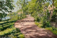 Johan Krouthén (1859-1932): Sommarpromenad, 1911