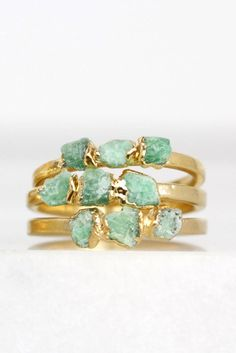 Even if your birthday isn't in May, you should still wear emerald stacking rings