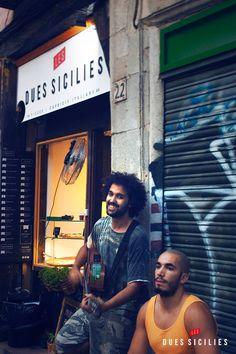 Música en directo en el Rincón de Les Dues Sicilies, el Born Barcelona, C/ Carders 22. Grupo musical Bamba Ganjah.