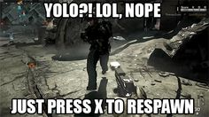 Call of Duty Respawn Fail - http://www.videogamesmeme.com/memes/call-of-duty-respawn-fail/