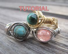 WIRE JEWELRY TUTORIAL-Wire Wrapped Sparkly Crystal by WireBliss