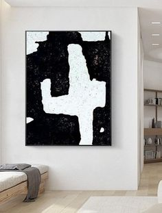 Canvas Wall Decor, Wall Art Decor, Canvas Art, Modern Office Decor, Black And White Abstract, Different Textures, Minimalist Art, Bedroom Wall, Original Art