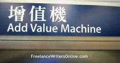 Freelance writer online add value