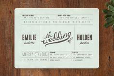 Mr. Laurence Wedding Invitations by Moglea at minted.com