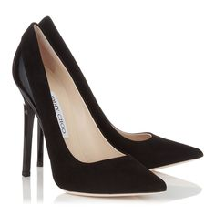 Black Suede and Shiny Leather Pointy Toe Pumps   Kayomi   Autumn Winter 14   JIMMY CHOO Shoes