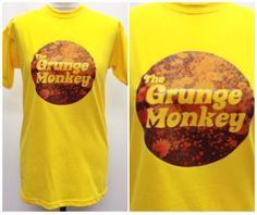 Grunge Monkey Graphic Tshirt //Mustard//Flowers//Grunge//Handmade by TheGrungeMonkey on Etsy https://www.etsy.com/listing/222228289/grunge-monkey-graphic-tshirt