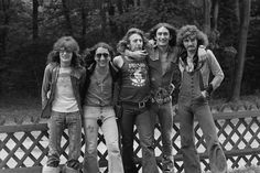 English rock group Uriah Heep posed in Germany in 1972 Left to right Gary Thain Mick Box Ken Hensley Lee Kerslake and David Byron