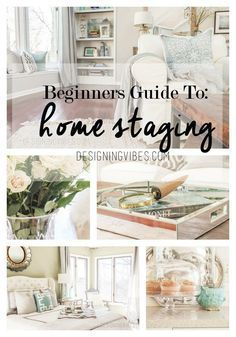 How to stage a home.