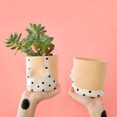 polka dot bathing suit pot