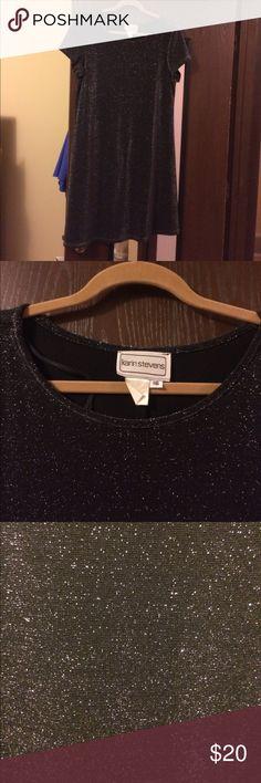 Karin Stevens Black Sparkle Dress Short black sparkle dress - very cute. Karin Stevens Dresses
