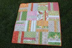 wonderful simple baby quilt