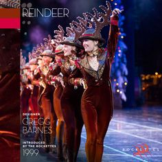 "We're going for a sleigh ride! Learn about our #RadioCityChristmas Spectacular ""Reindeer"" costume."