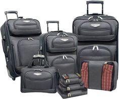 Traveler's Choice Amsterdam 8-piece Luggage Set Gray - via eBags.com! $130