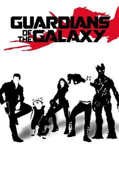 Guardians of the Galaxy - minimal movie poster - Phumiphat Chupun