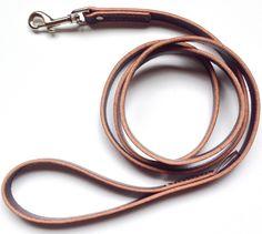 The Latigo Leather Dog Leash is a beautiful, hand made leash made here in the USA. It's been Penny's leash for 7 months now, and it is getting so soft!