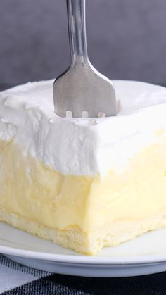 Summer Desserts, Desserts With Lemon, Easy Desserts, Angel Food Cake Desserts, Vanilla Desserts, Dessert Recipes, Pudding Desserts, Cheesecake Desserts, Pudding Recipes