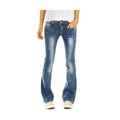Bestyledberlin Damen Bootcut Stretch Jeans Hosen Slim Schlag Hüftjeans  j76kw 40 L - Jetzt bei ya a990638216