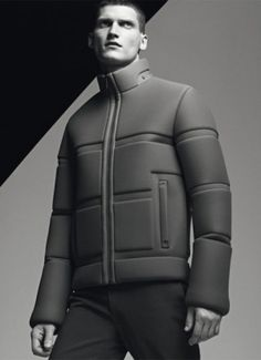 future fashion, futuristic look, future style, man, jacket, man model by FuturisticNews.com