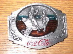 """""""Coca Cola brand buckle copy 1990"""" -Caption reads:"""" Through All The Years Since 1886"""". Marketed by Siskiyou"""