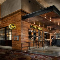 Reserve your table at TAP Sports Bar in the MGM Grand Las Vegas Hotel & Casino today! Sportbar Design, Bar Interior Design, Store Design, Restaurant Concept, Restaurant Design, Restaurant Bar, The Deal Elle Kennedy, Bar On Wheels, Sports Pub