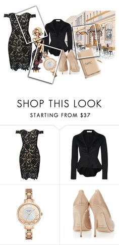 """""""Untitled #609"""" by rajtarov-natasa ❤ liked on Polyvore featuring WithChic, Kate Spade and Yves Saint Laurent"""