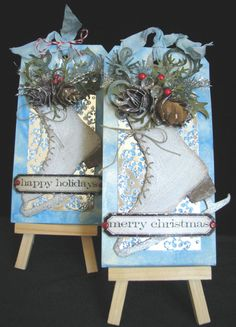 Merry Christmas Large Shipping Tag Greeting Card by OldRaven