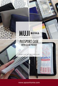 Muji Storage, Storage Organization, Band Aid, Japan Fashion, Scrapbooks, Passport, Beautiful Homes, Stationary, Office Supplies