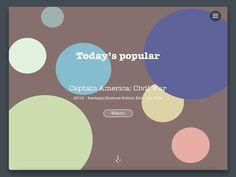 web menu concept by Veronika Lykova