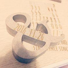 イニシャルオブジェに文字を入れる方法 | marry[マリー]