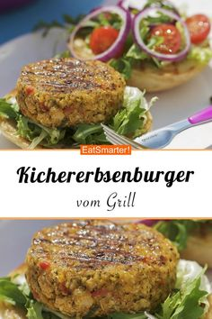 Chick-pea burgers from the grill - Vegetarisch Grillen - Chicken Recipes Chicken Recipes Dairy Free, Chicken Recipes For Kids, Healthy Chicken Recipes, Easy Healthy Recipes, Veggie Recipes, Vegetarian Recipes, Easy Meals, Dinner Recipes, Lunch Recipes