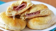 Stuffed honey ham biscuits